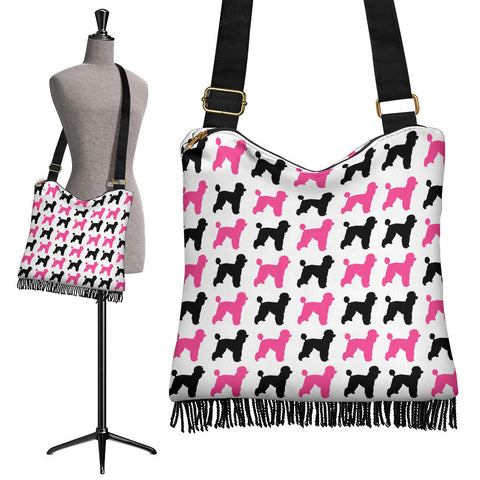 Image of Poodle Dog Crossbody Boho Handbag