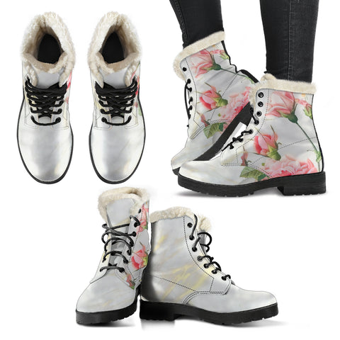 Carnation & Marble Vegan Boots