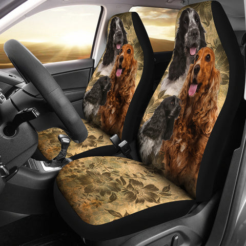 English Cocker Spaniel Car Seat Covers (Set of 2)