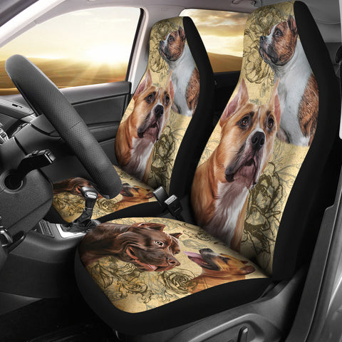 Image of Staffordshire Bull Terrier Car Seat Covers (Set of 2)