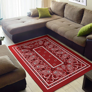 Classic Red Bandana Area Rugs - Fitted