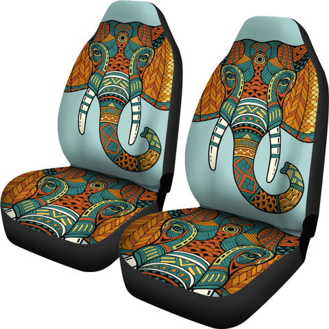 Mandala Elephant Head Car Seat Covers