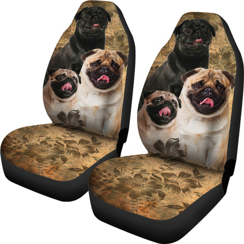 Image of Pug Car Seat Covers (Set of 2)