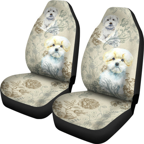 Image of Maltese Car Seat Covers (Set of 2)