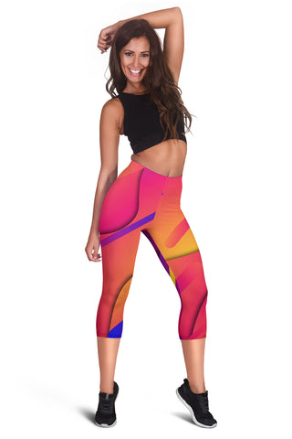 Image of Memphis Fluid Capris Leggings