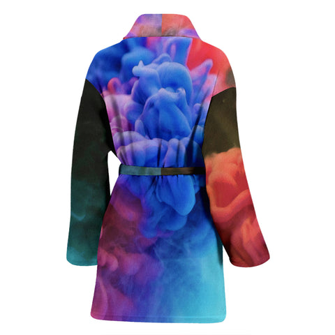 Image of Bathrobe Watercolor Smoke Women's