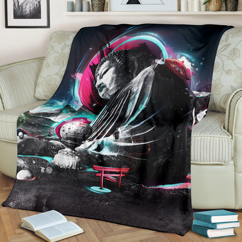 Buddha Pop Art Premium Blanket