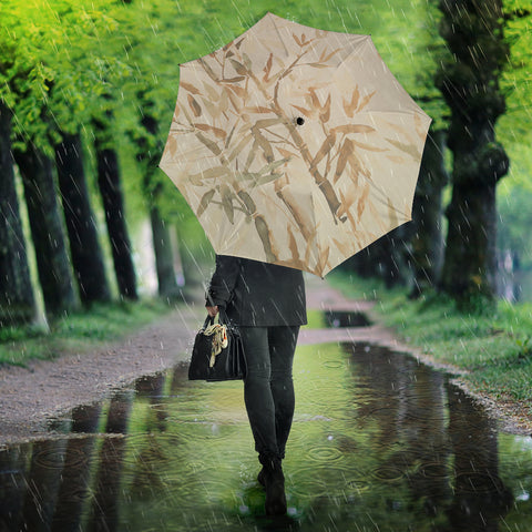Bamboo umbrella in browns