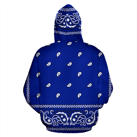Image of Blue Crip Bandana Style Premium Hoodie Men & Women Sizes