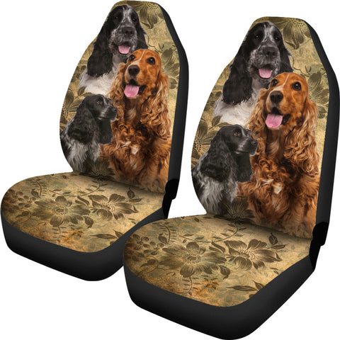 Image of English Cocker Spaniel Car Seat Covers (Set of 2)