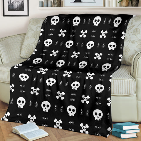 Image of Skulls and Potion Blanket