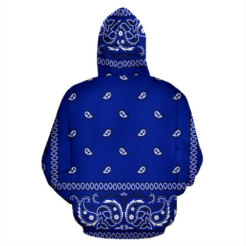 Blue Crip Bandana Style Hoodie - All Over Print Hoodie New Style