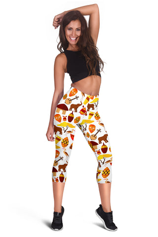 African Ethnic Tripe Women's Capris Leggings