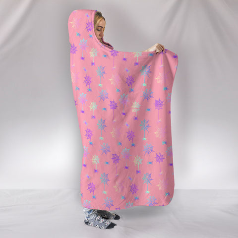 Image of Sweet Spiderwebs Blanket in Pink