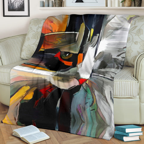 Art Cat Blanket