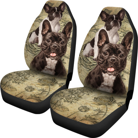 Image of French Bulldog Car Seat Covers (Set of 2)
