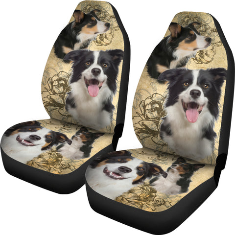 Image of Border Collie Car Seat Covers (Set of 2)