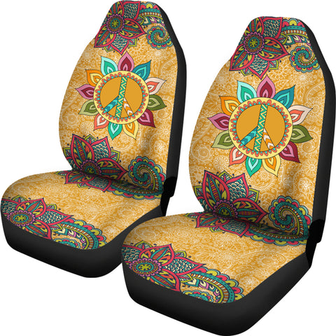 Image of Peace Mandala Car Seat Covers