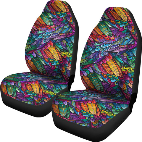 Image of Boho Feathers Seat Covers