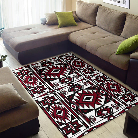 Image of Native Stylish Area Rug Great for any Room Black (red)