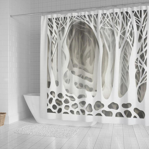 Mystical Forest 3d Shower Curtain