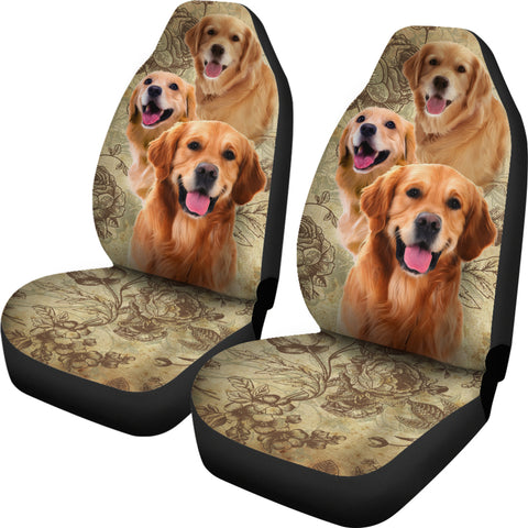 Image of Golden Retriever Car Seat Covers (Set of 2)