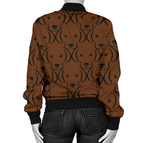 Image of Chocolate Lab Womens Bomber Jacket
