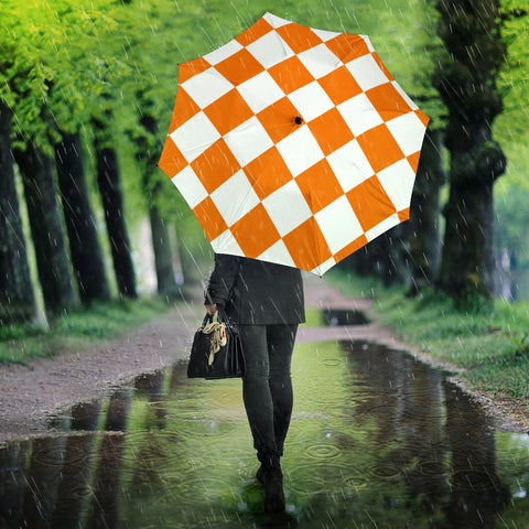 Image of White and Orange squares Umbrella
