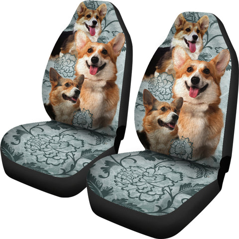 Image of Pembroke Welsh Corgi Car Seat Covers (Set of 2)