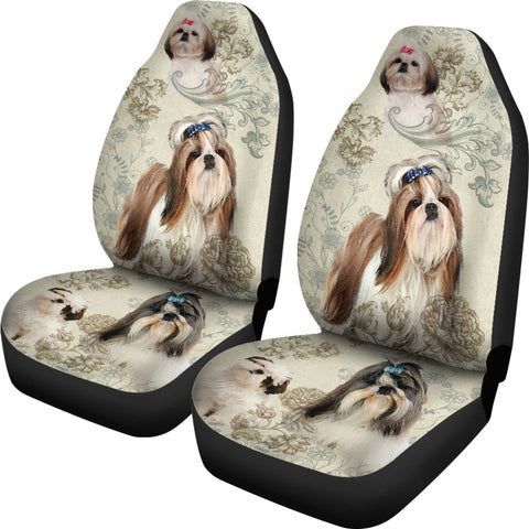Image of Shih Tzu Car Seat Covers (Set of 2)