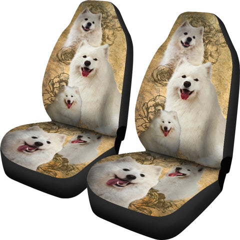 Image of Samoyed Car Seat Covers (Set of 2)