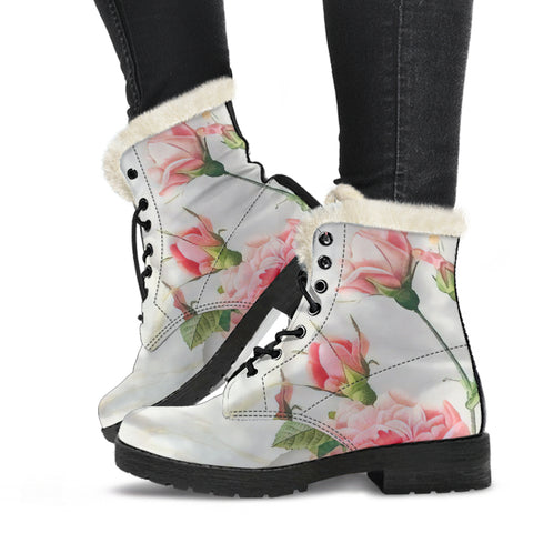 Image of Carnation & Marble Vegan Boots