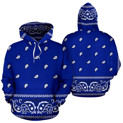 Blue Crip Bandana Style Premium Hoodie Men & Women Sizes