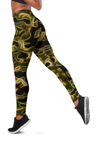 Fractal Camo Leggings Green for Camouflage Lovers