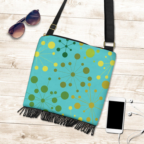 Sparkle Dots Golden Crossbody Boho Handbag