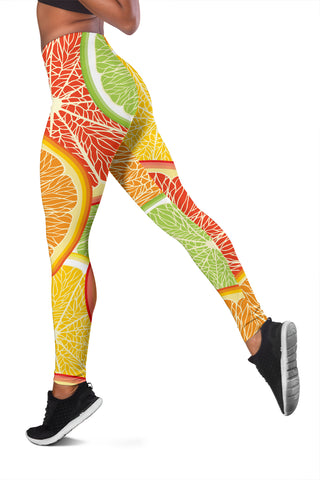 Citrus Slice Women's Leggings