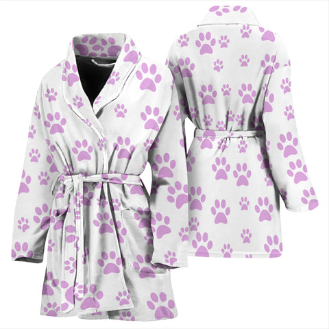 Women's paw prints bath robe