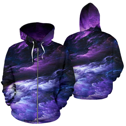 Image of NP Purple Universe Zip Hoodie