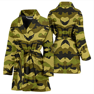 Green Camouflage Womens Bath Robe