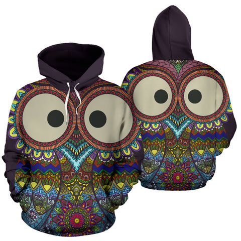 Image of Colorful Owl Hoodie