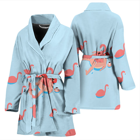 Image of Flamingo V.2 WOMEN'S BATHROBE