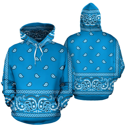 Image of Carolina Blue Bandana Hoodie