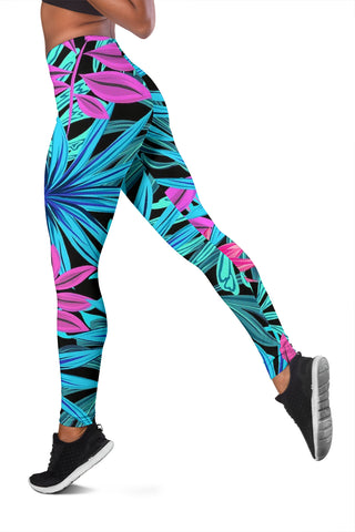 Image of Womens Leggings - Tropical Burst