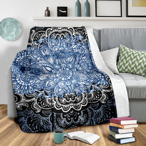 Blue Lotus Fractal Blanket