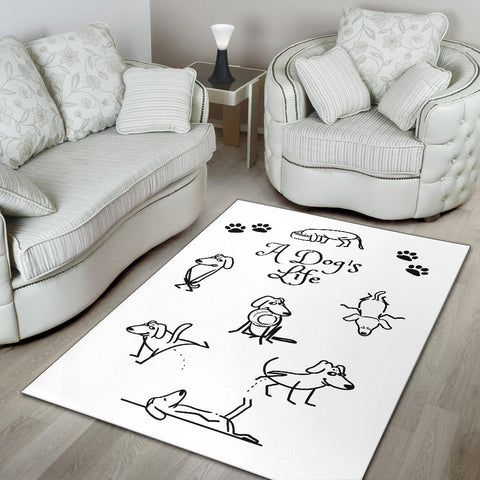 Image of A Dog's Life Area Rug