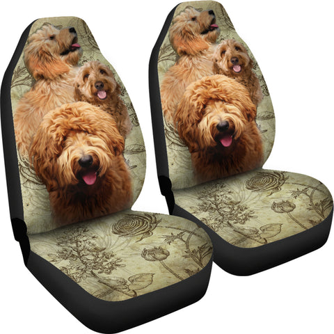 Image of Goldendoodle Car Seat Covers (Set of 2)