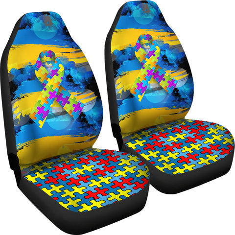 Image of Autism Awareness Car Seat Covers