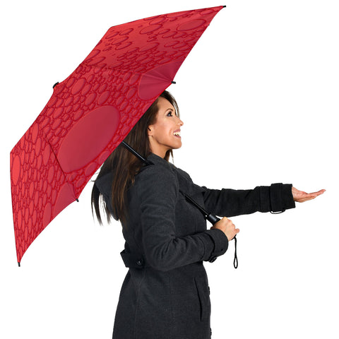Image of Red Raindrops Umbrella
