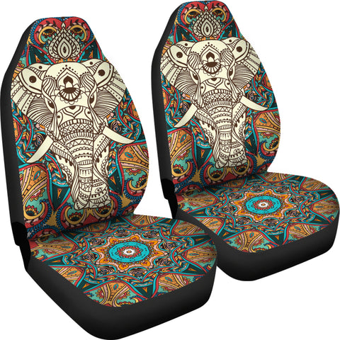Image of Boho Mandala Elephant Car Seat Cover