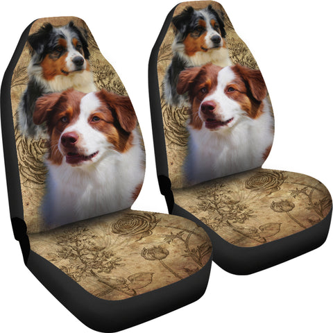 Image of Australian Shepherd Car Seat Covers (Set of 2)